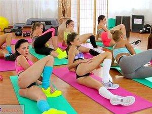 Dreier Lesbische Hosen Flotter Yoga Meine Tochter,