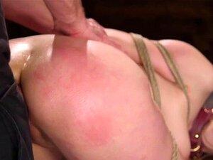 Ginger Maya Kendrick bekommt ihren großen Arsch in suspendierter Bondage durchgevögelt