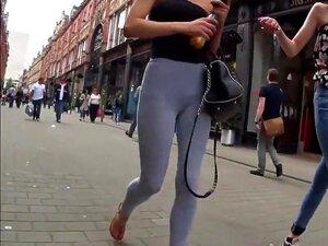 Arsch Enge Leggings Candid