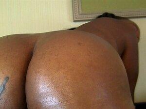 Großer dicker schwarzer Ebenholz Arsch