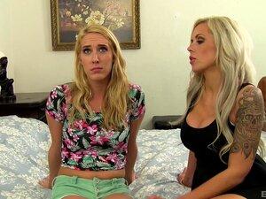 Lesbische Stiefmutter Lux Cadence Blonde Lesbe
