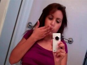 Heiß brünette selfie topless