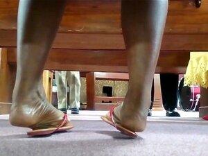 Ebenholz Teen Füße Anbetung