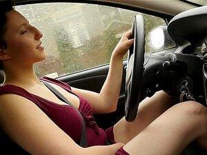 Auto Schwarzes Mädchen masturbiert Frech schwarz
